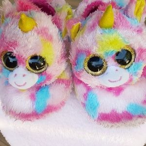 TY Unicorn Slippers 11 / 12 girls